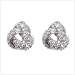 Triangle Knot Stud Earrings