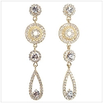 Crystal Party Drop Long Earrings