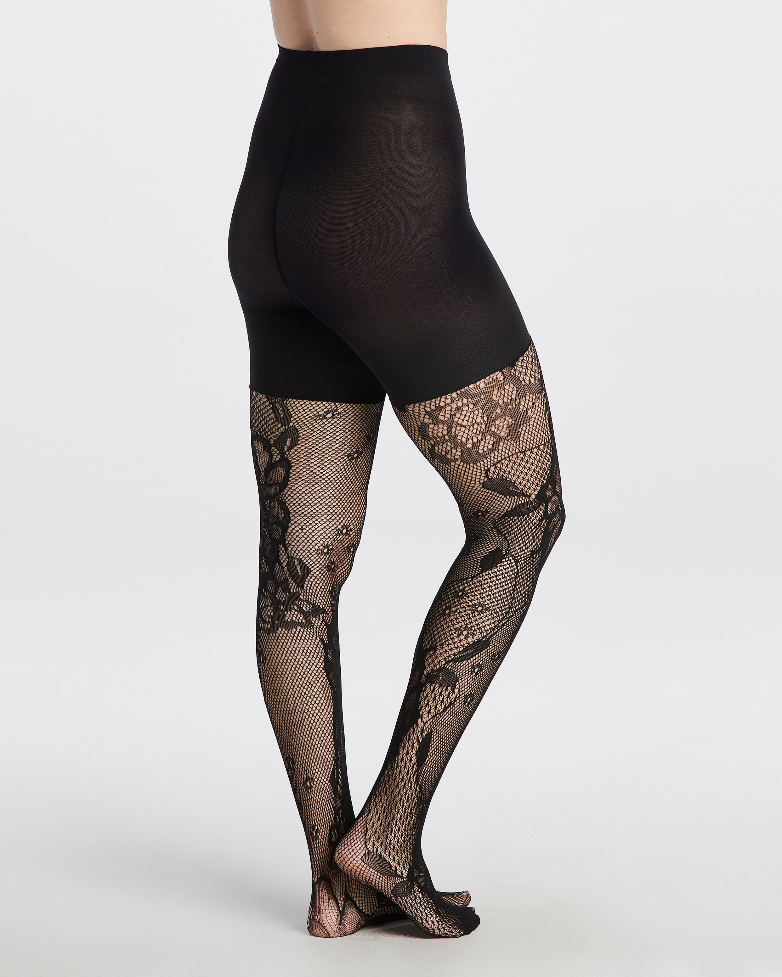 5bd5b10d5 Fishnet Floral Mid-Thigh Shaping Tights
