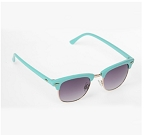 Coloured Framed Clubmaster Sunglasses