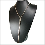 Crystal Lined Long Necklace