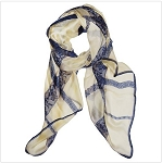 Silk Feeling Lace Decor Scarves