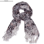 Trendy 100% Pashmina Animal Print Long Scarf