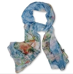 Silk Feeling Floral Print Scarves