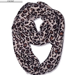 Animal Print Winter Loop Scarf