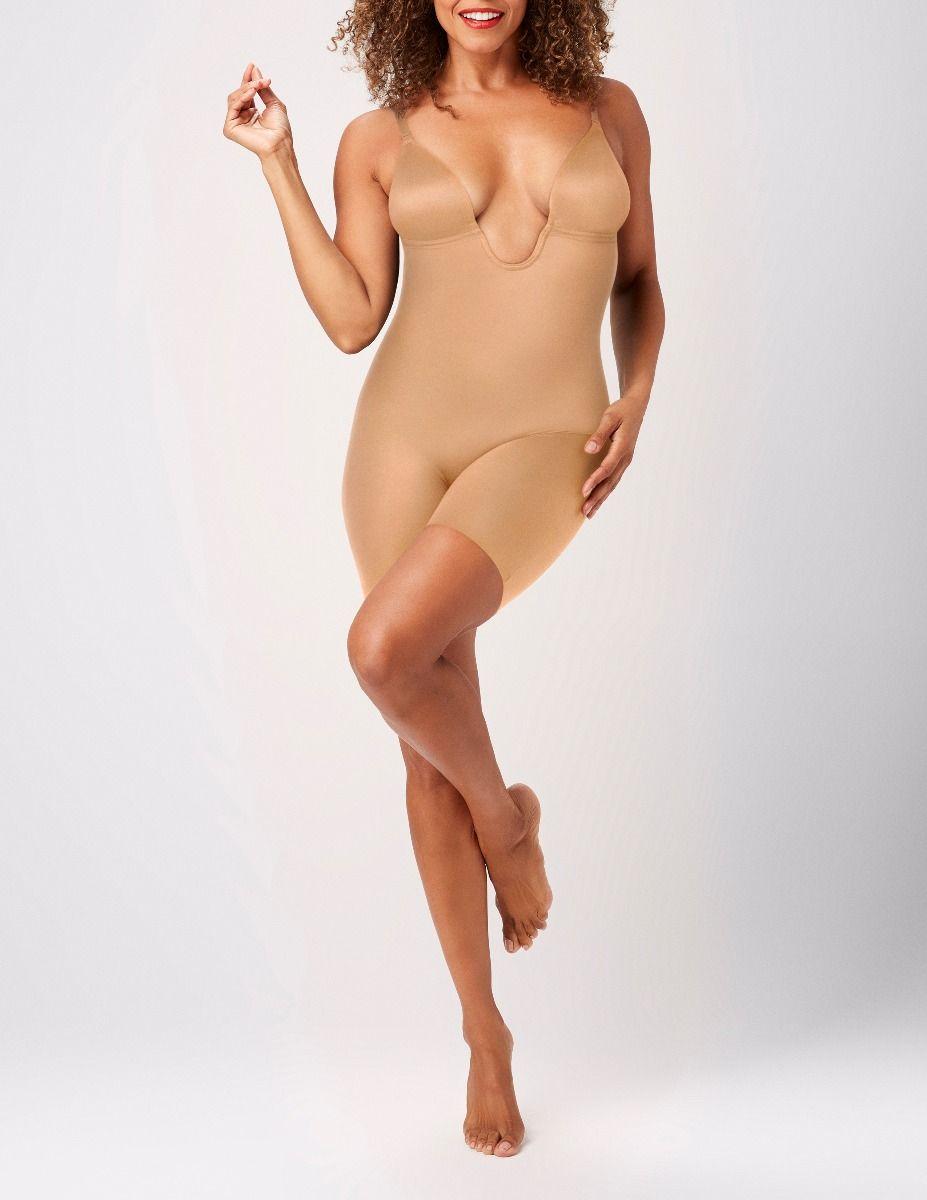 Suit Your Fancy Plunge Low-Back Mid-Thigh Bodysuit e270f911d