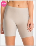 Perforated Mid-Thigh Short