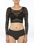 SPANX Sheer Fashion Lace Crop Top