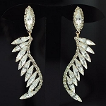 Rich Crystal Wing Earring