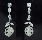 Luxurious Flower Cubic Earring