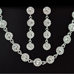 Luxury Simple Round Classic Necklace & Earring Set