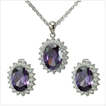 Elegant Cubic Necklace and Earring Set