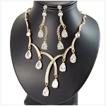 Romantic Tear Drop Necklace and Earring Set