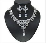 Rich Crystal Necklace and Earring Set
