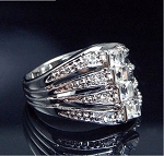 Classic Look Shiny Crystal Ring - Sold In-Store Only