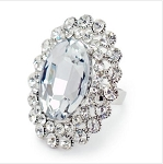 Large Gorgeous Oval Crystal Ring - Sold In-Store Only