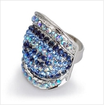 Fashionable Crystal Large Ring - Sold In-Store Only