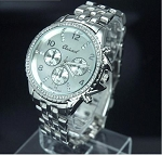 Trendy Large Circle Crystal Watch