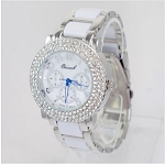 Luxury Crystal Round Face Metal Women's Metal Watch