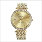 Fashion Crystal and Metal Watch
