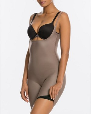 Two-Timing Open-Bust Mid-Thigh Bodysuit