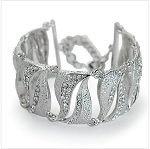 Crystal & Metal Wave Bangle