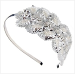 Lovely Beaded Fabric Headband