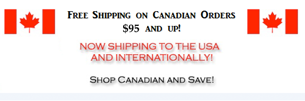 Free Shipping on Canadian Orders $95 and up