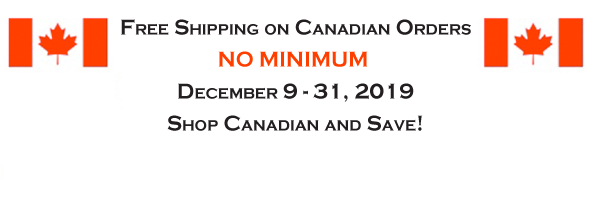 Free Shipping on Canadian Orders no minimum