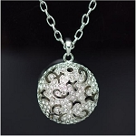 Large Crystal 3D Ball Necklace