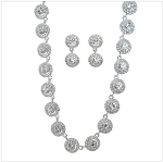 Crystal Circles Necklace and Earring Set