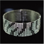 Fine Full Stone Patterned Bangle Bracelet