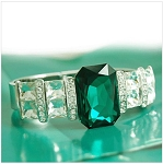 Emerald Square Bangle