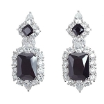 Luxury Large Square Cubic Earrings