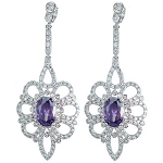 Luxury Cubic Chandelier Evening Earrings