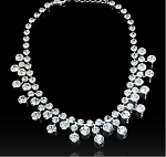 High End Classic Style Crystal Necklace