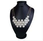 Luxury Pearl and Crystal Circles Necklace