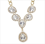 Luxury Large Crystal Party Necklace