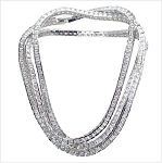 Luxury Cubic Zirconia Tennis Long Necklace