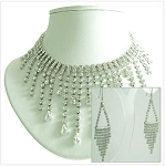 Luxury Crystal Necklace & Earrings
