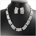 Luxury Elegant Crystal Party Necklace and Earring Set