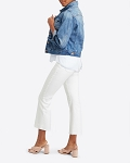 Spanx White Cropped Flare Jeans