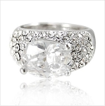 Oval Cubic Center Luxury Crystal Ring - Sold In-Store Only