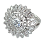 Large Crystal Flower Ring - Sold In-Store Only