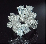Shiny Cubic Flower Ring - Sold In-Store Only
