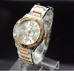 Trendy Large Face Crystalized Watch