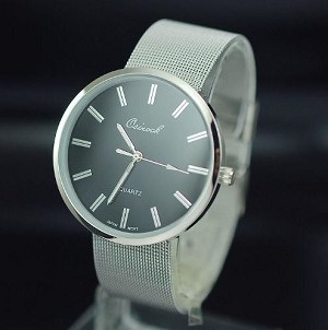 Large Circle face band Watch