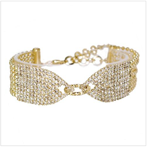 Beautiful Linked Crystal Chain Bracelet