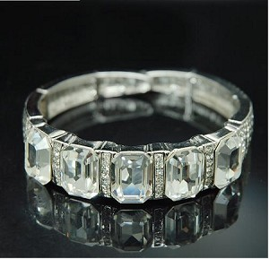 Luxury Square Crystal Bangle Bracelet