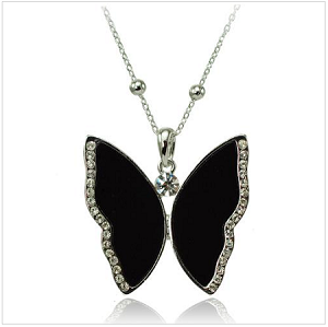 Large Butterfly Pendant Necklace